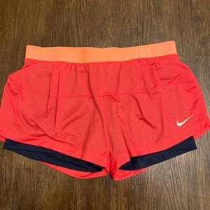 Mesh Nike Running Shorts with Built-In Spandex